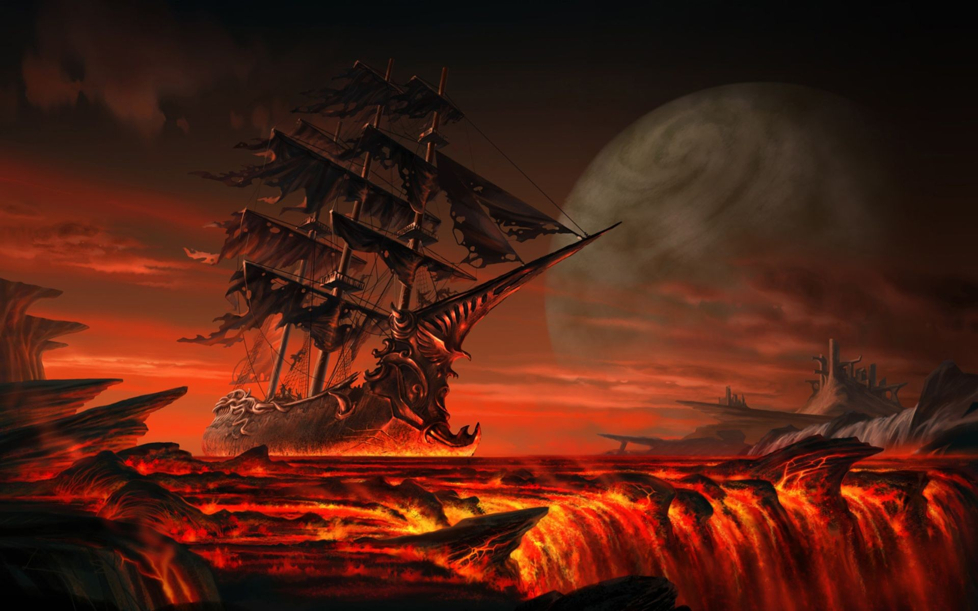 Sail to the end of the world full hd wallpaper and background image fantasy ship wallpaper voltagebd Images
