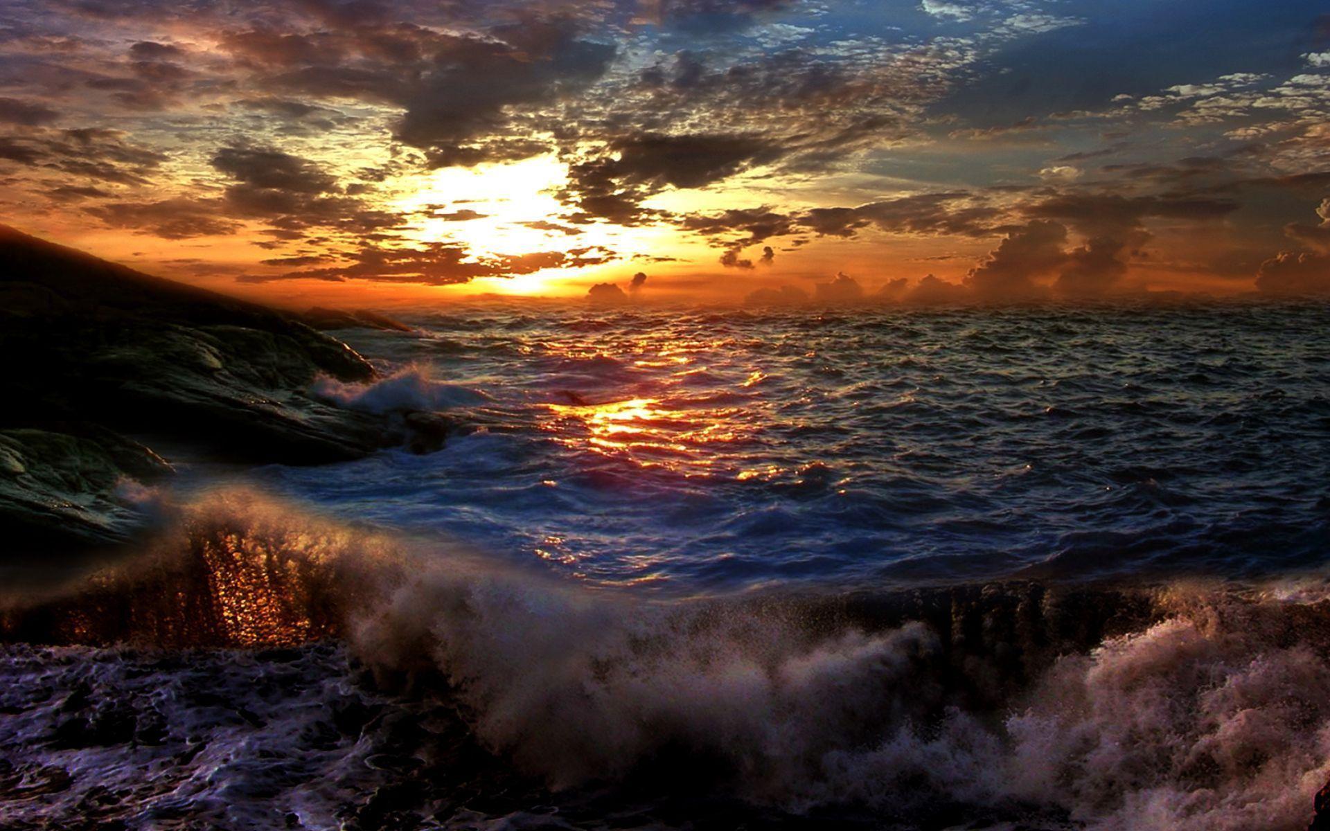 Hdr full hd wallpaper and background image 1920x1200 for Sfondi desktop tramonti mare