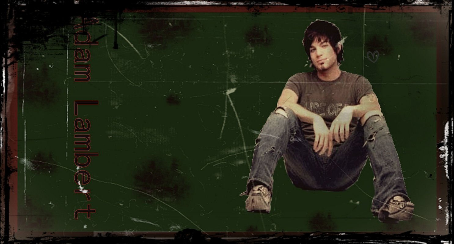Music - Adam Lambert  Music Grunge Green Wallpaper