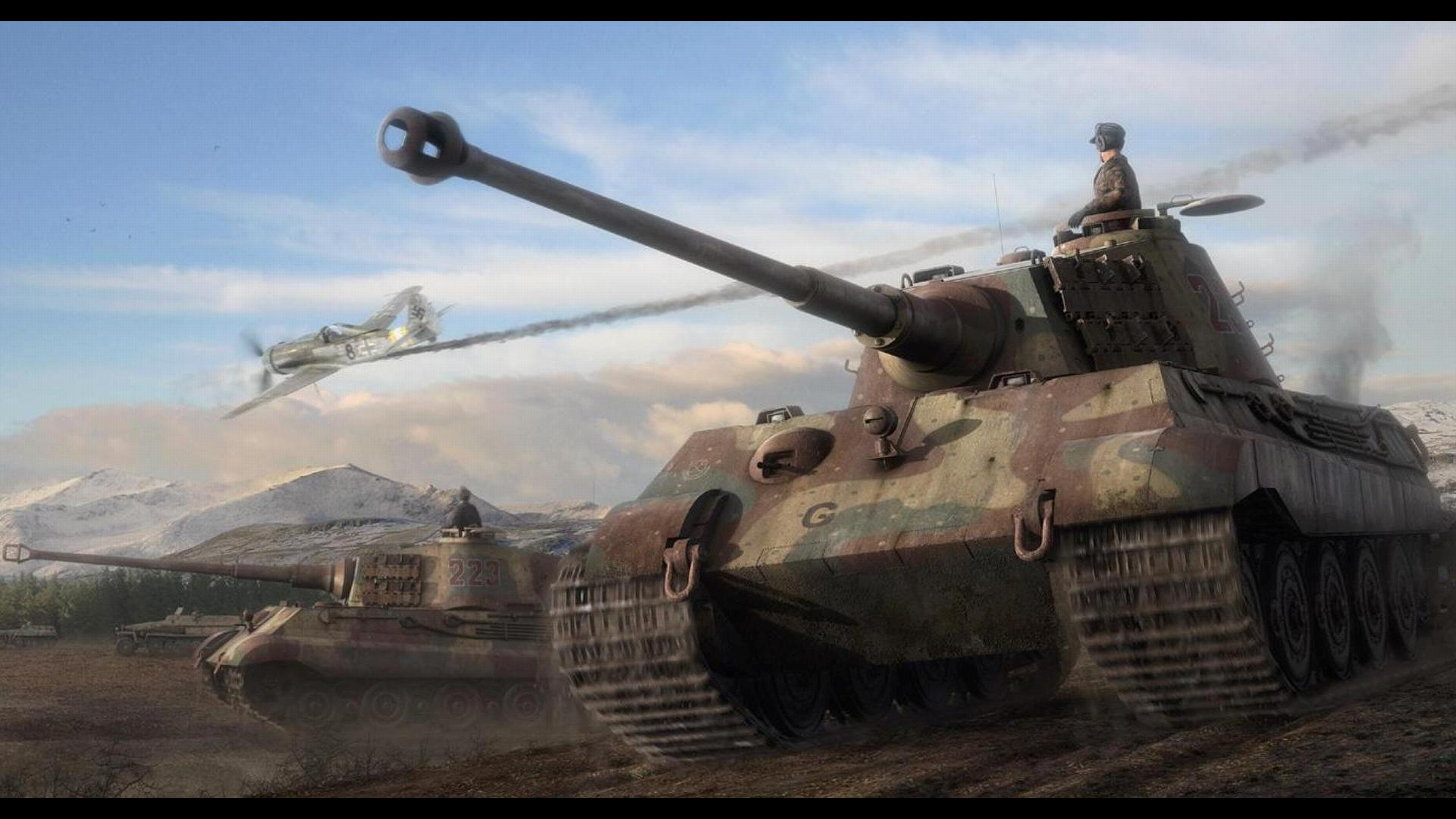 Custom Silk Photo Wallpaper Hd Military Tank Wall: Tank 4k Ultra HD Wallpaper