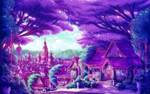 Anime City Fantasy HD Wallpaper | Background Image