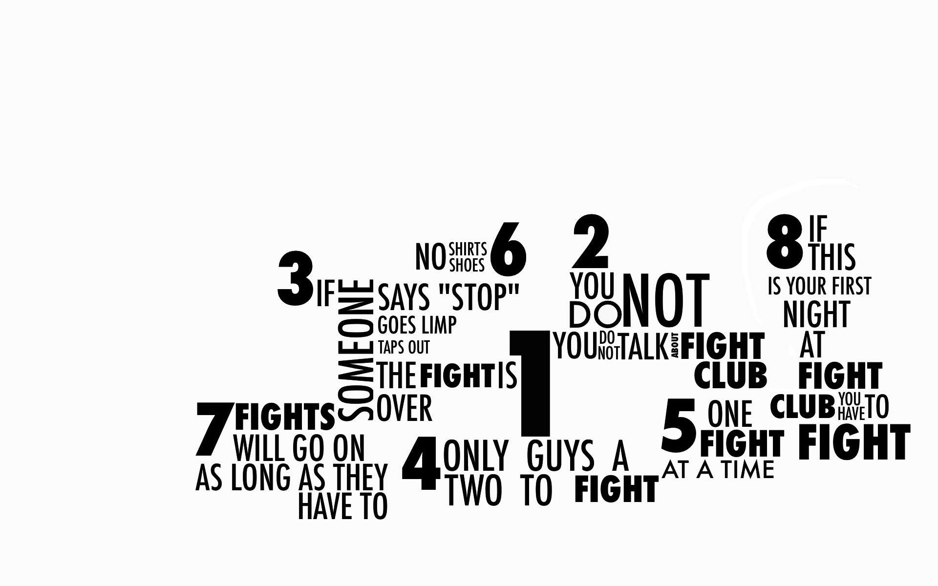 Fight Club Rules Fondo De Pantalla Hd Fondo De Escritorio