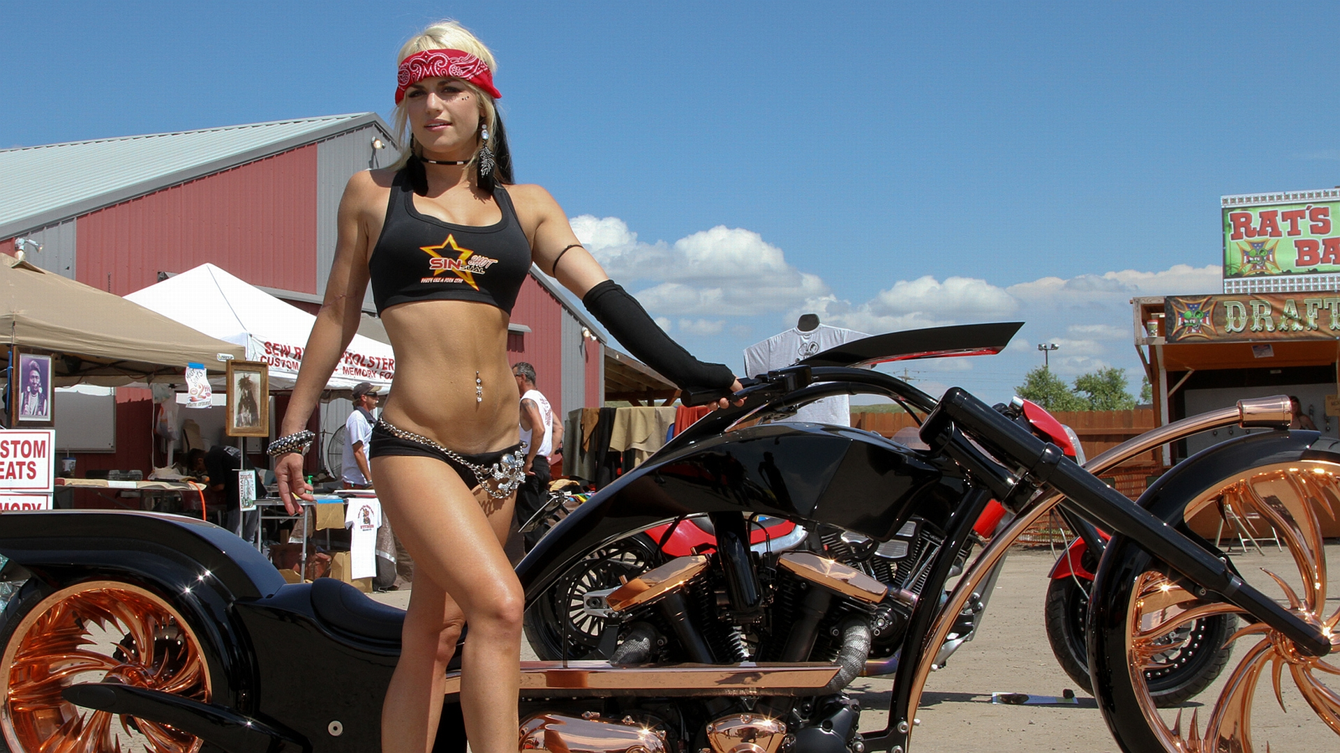 girls motorcycles Rat on rod hot