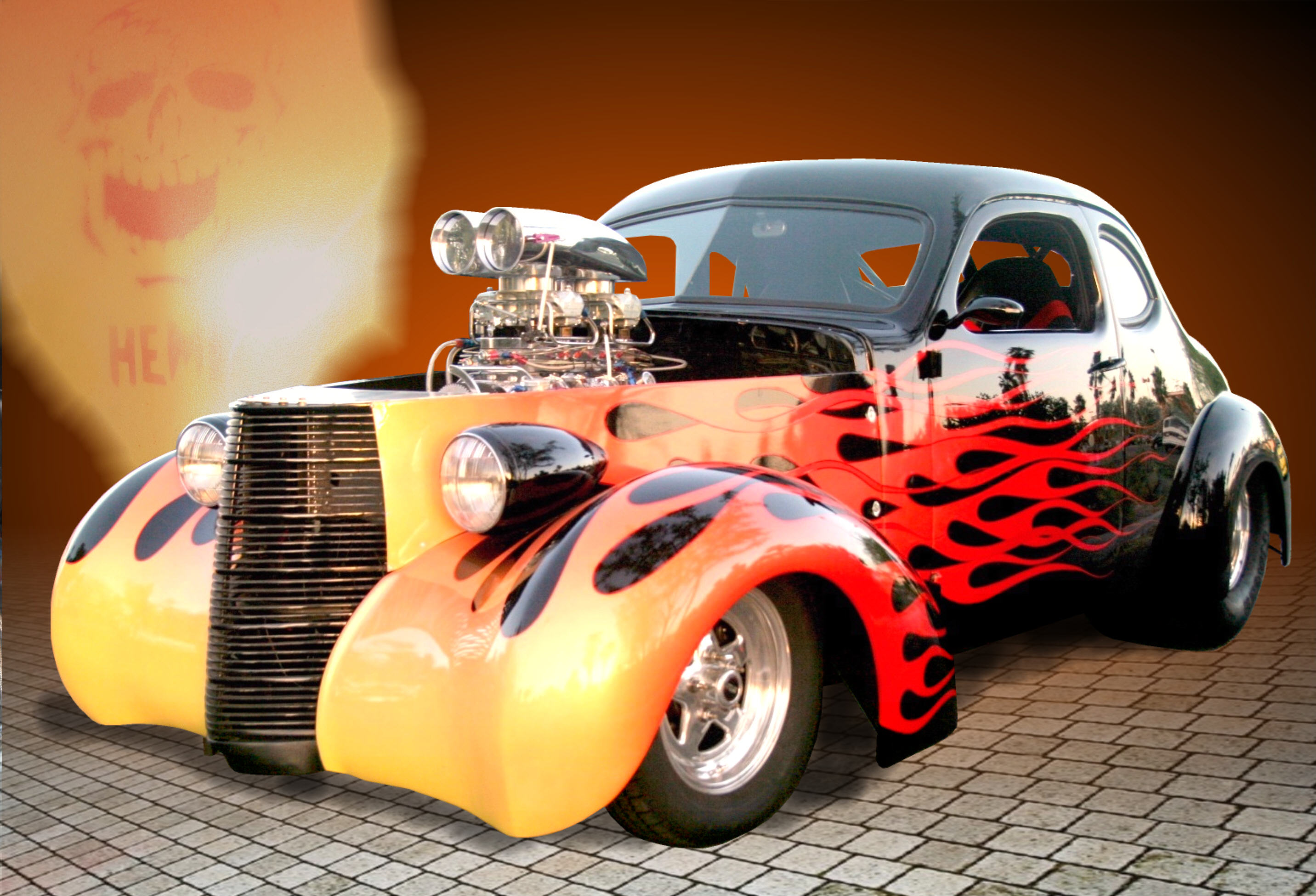Hot Rod Full HD Wallpaper And Background Image