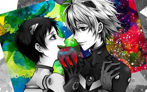 Anime Neon Genesis Evangelion Evangelion Shinji Ikari Kaworu Nagisa Yaoi HD Wallpaper | Background Image