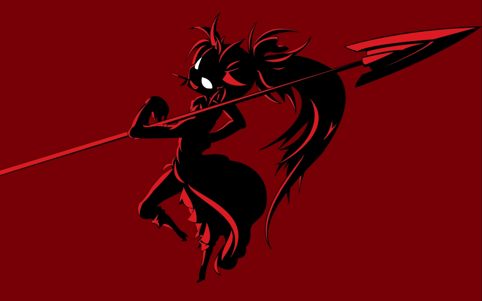 Dark - Other  Dark Demon Devil Spear Red Eye Cute Wallpaper