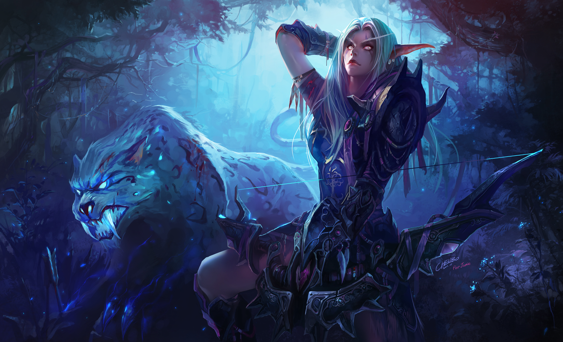 Video Game - World Of Warcraft  Night Elf Wallpaper