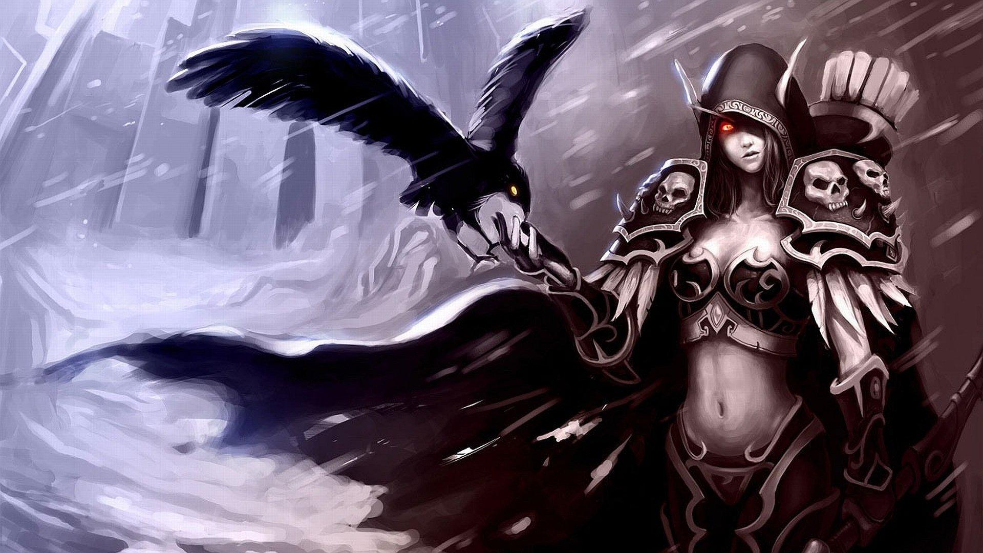 The dark elf hd wallpaper background image 1920x1080 id 170867 wallpaper abyss - Sylvanas windrunner wallpaper ...