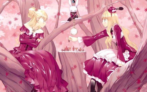 Anime Alice In Wonderland Alice White Rabbit Queen of Hearts HD Wallpaper | Background Image