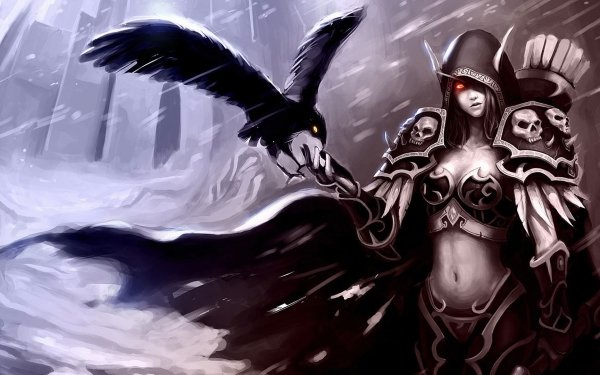 Video Game World Of Warcraft Warcraft Gothic Raven Rain Armor Sylvanas Windrunner HD Wallpaper | Background Image