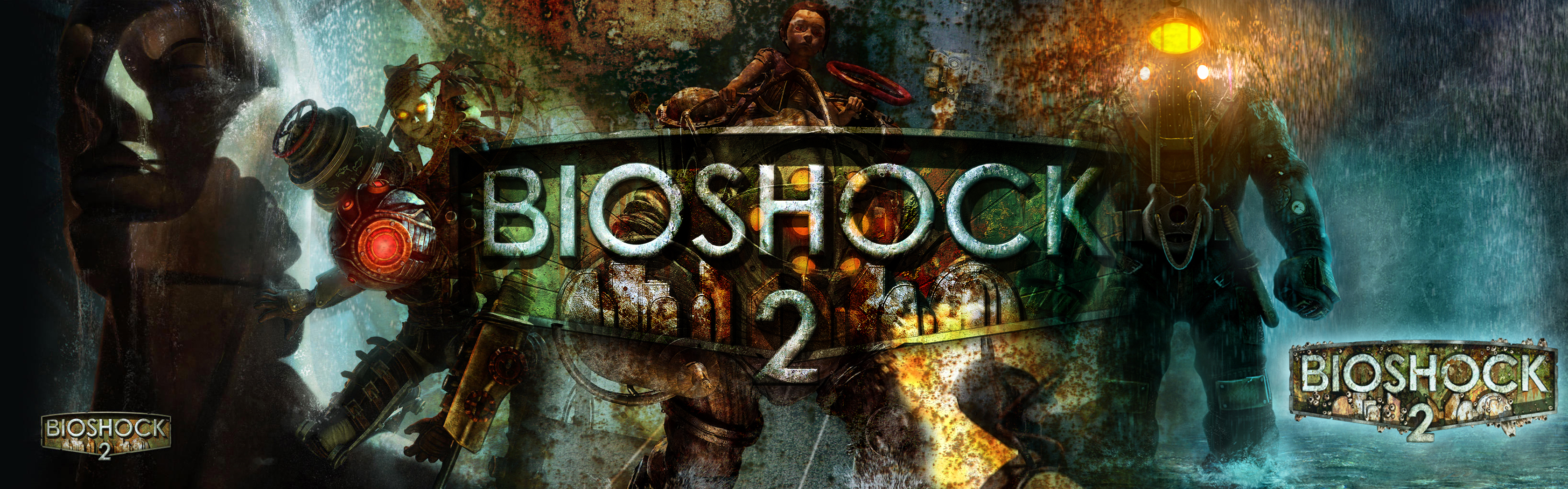 Bioshock 2 Wallpaper and Background Image | 3360x1050 | ID ...