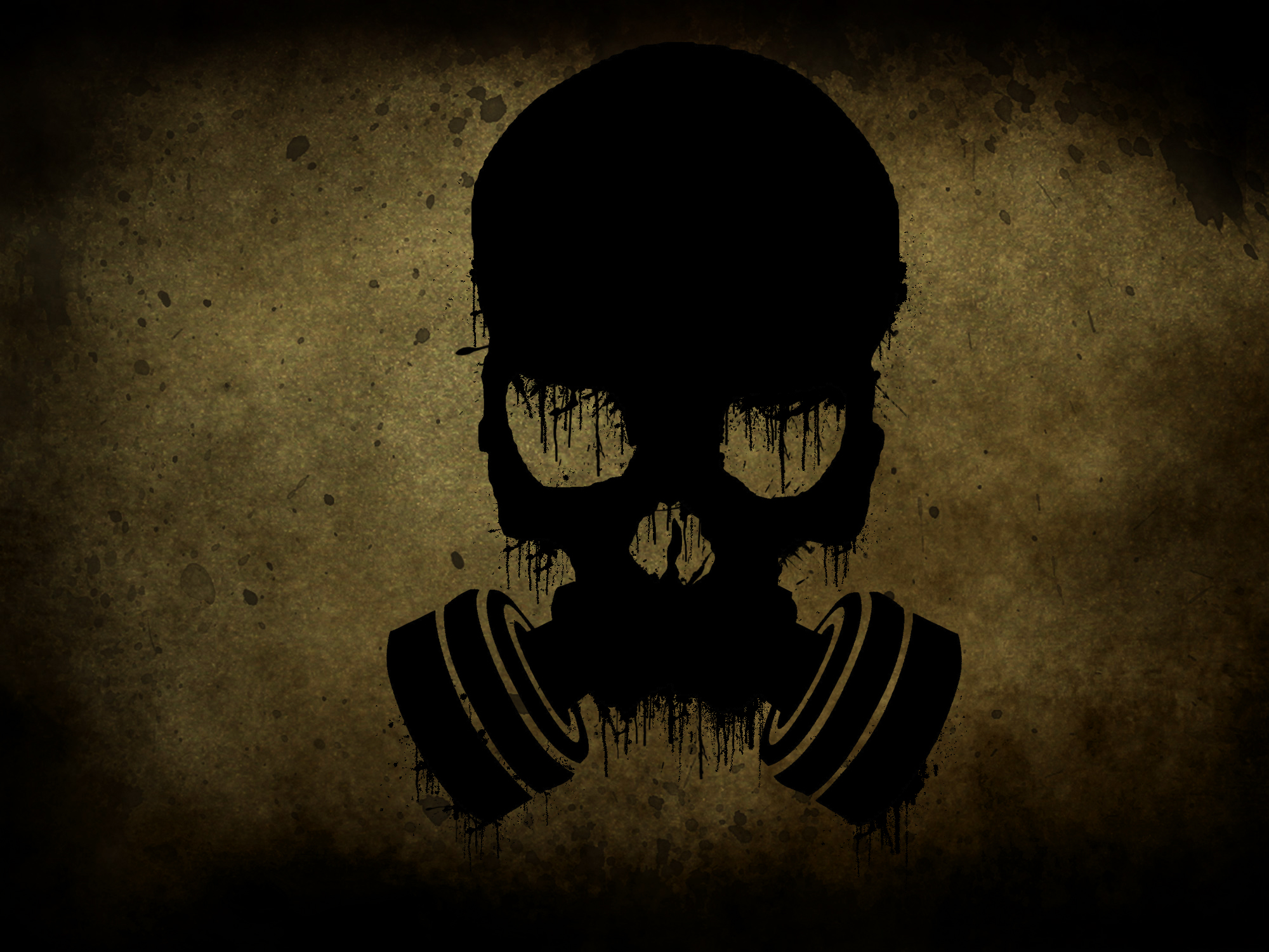 Gas Mask Wings HD Wallpaper