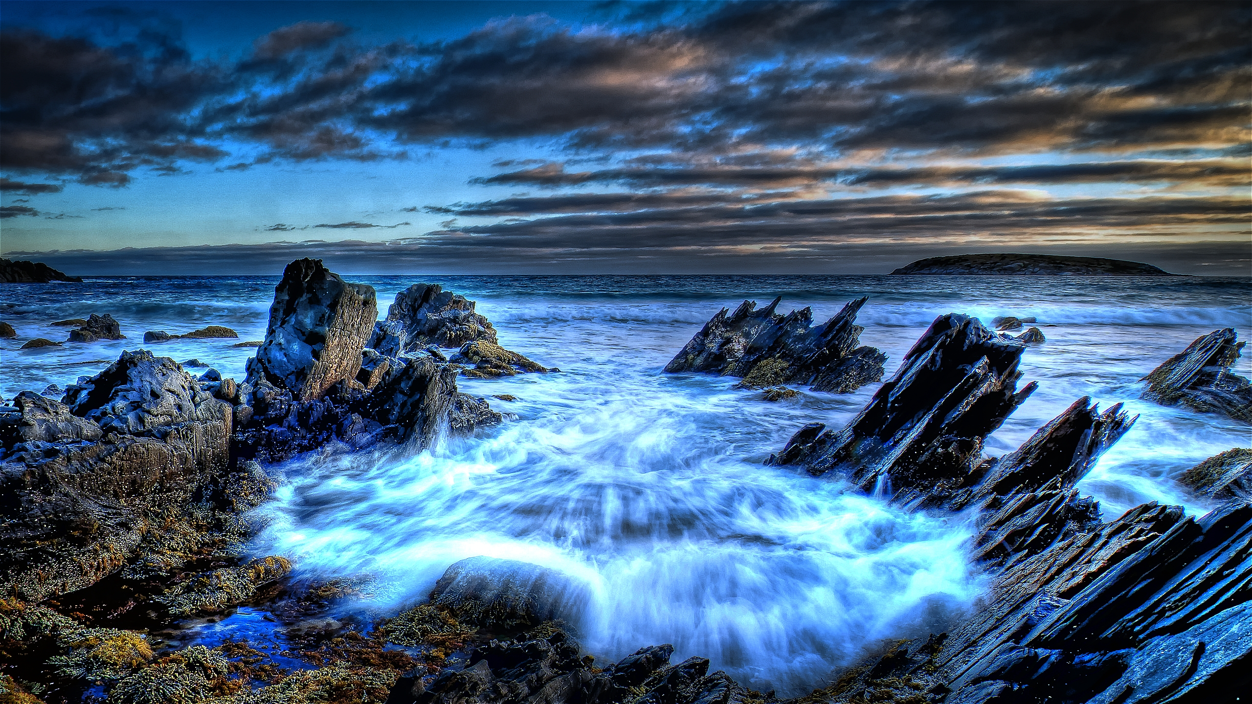Blue sea shore full hd wallpaper and background image - Wallpaper ocean blue ...