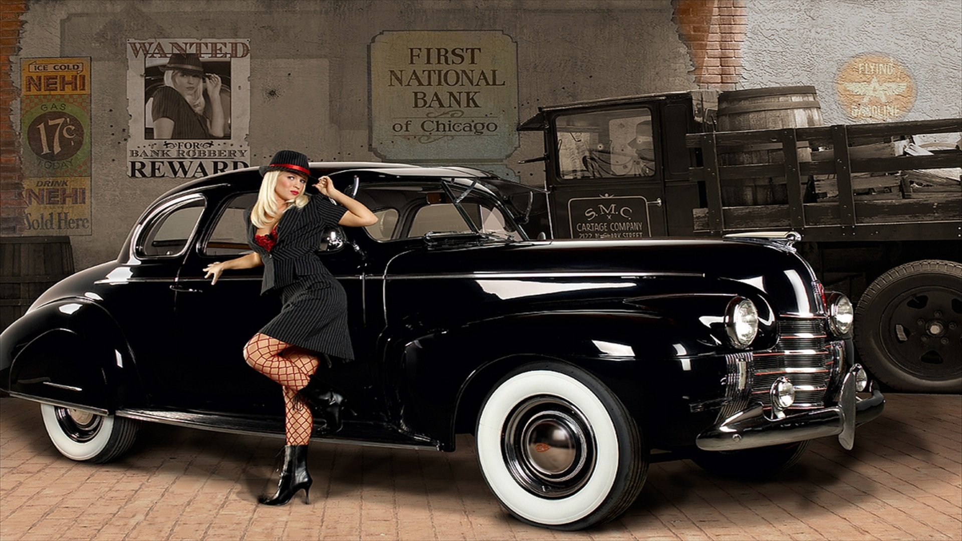 Girls & Cars Full HD Wallpaper And Background Image