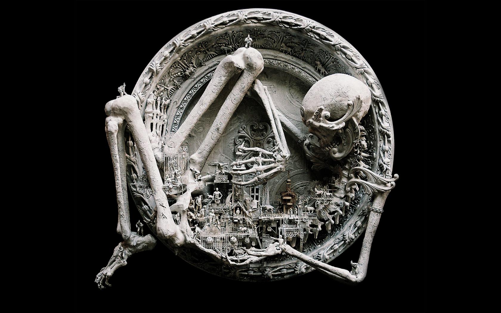 monster skull black wallpaper - photo #36