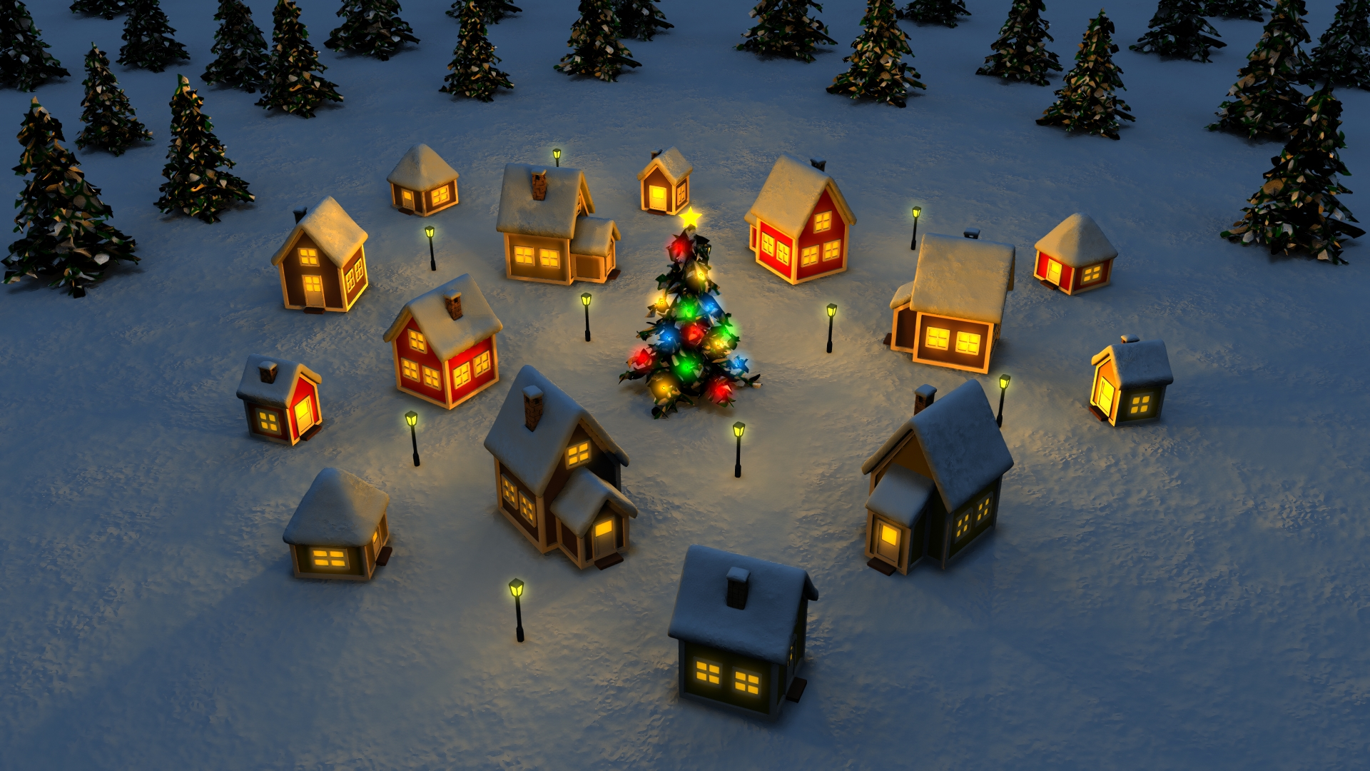 Holiday - Christmas  Christmas Tree Wallpaper