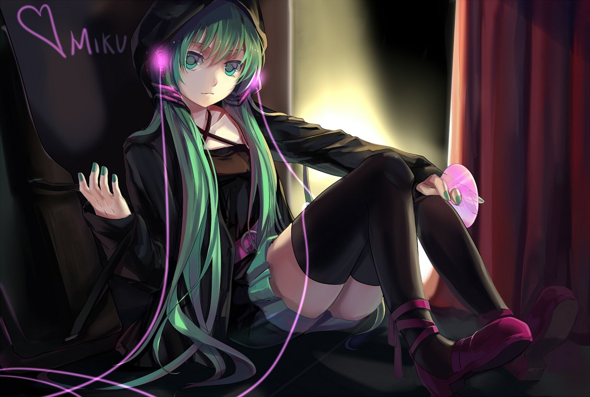 Anime - Vocaloid  Hatsune Miku Anime Blue Hair Blue Eyes Girl Wallpaper