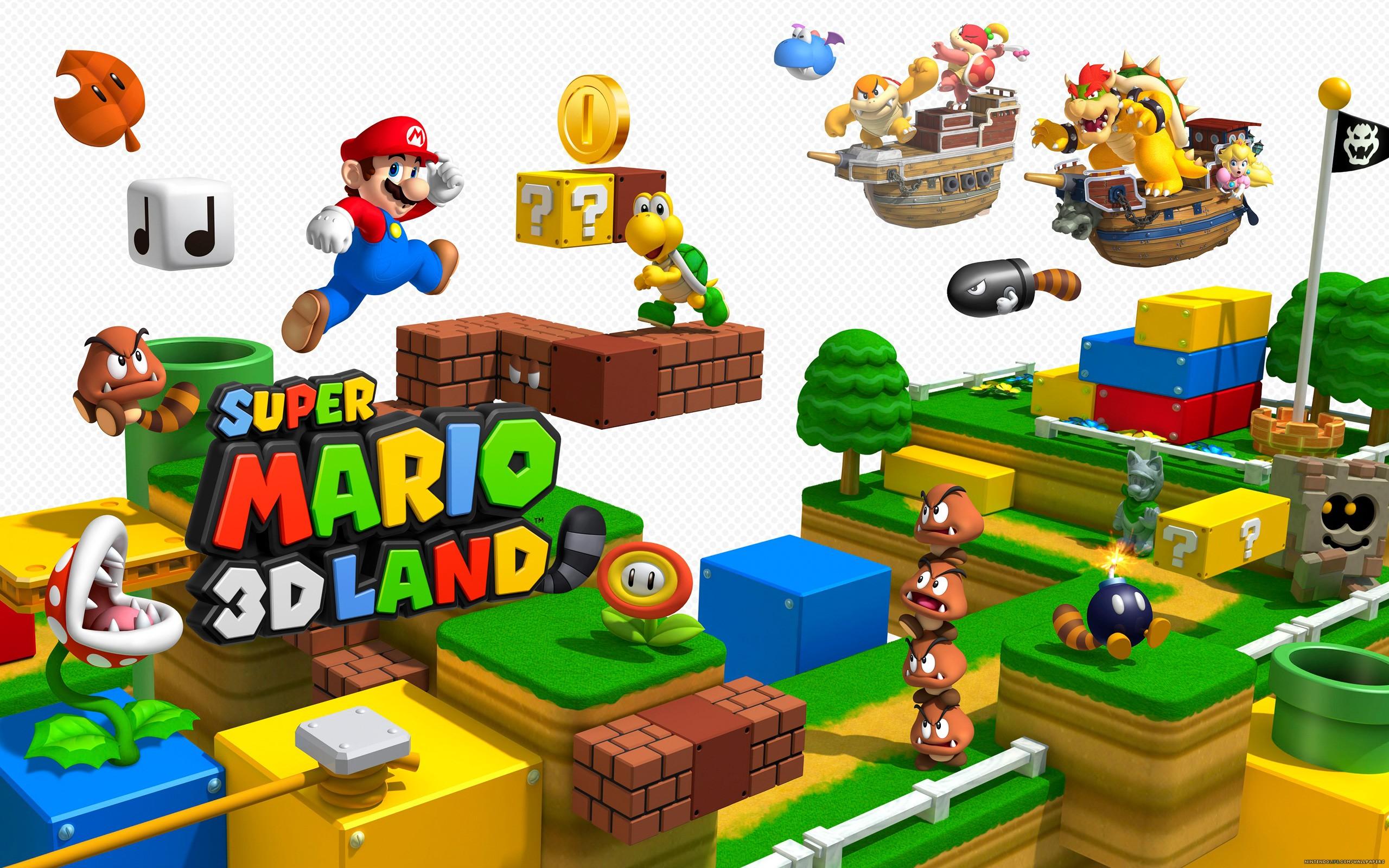 Super Mario 3D Land Fonds D'écran, Arrières-plan