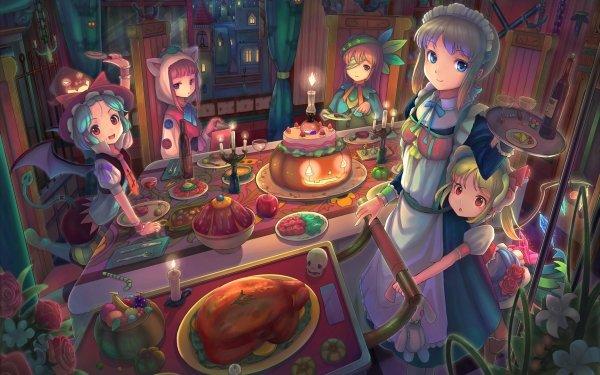 Anime Touhou Flandre Scarlet Remilia Scarlet Sakuya Izayoi Hong Meiling Patchouli Knowledge HD Wallpaper | Background Image