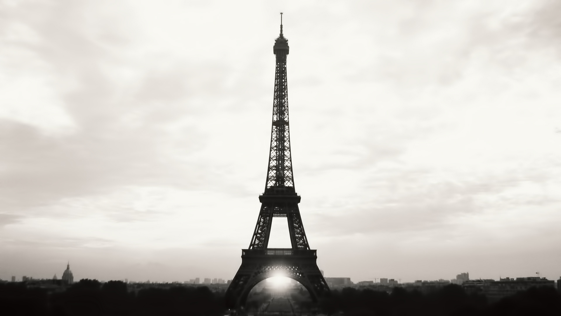 man made eiffel tower wallpaper