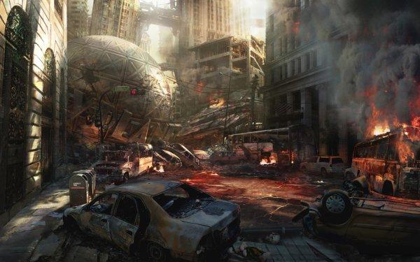 Comics Superman Post Apocalyptic Metropolis HD Wallpaper | Background Image