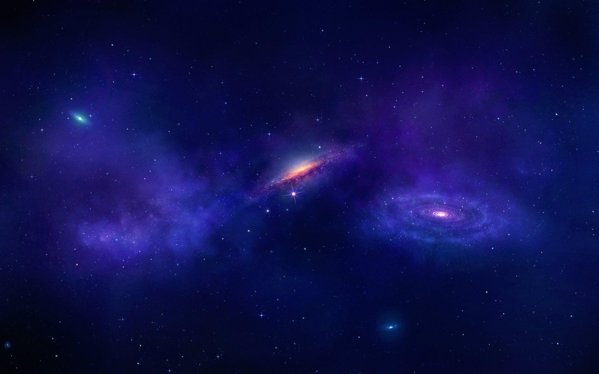 Sci Fi - Galaxy  Nebula Stars Universe Space Wallpaper