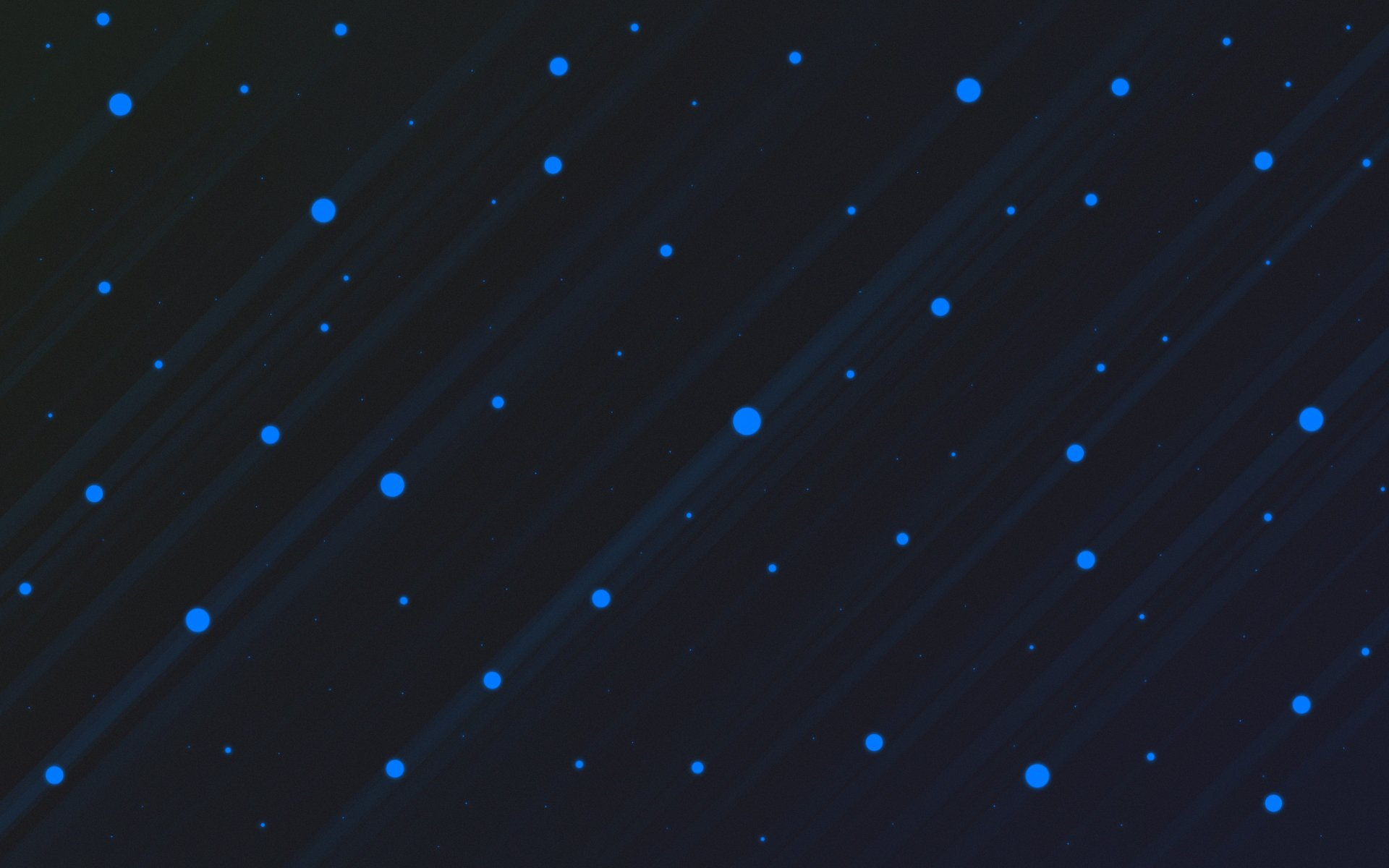 Abstract - Cool  Rain Dots Blue Dark Black Wallpaper