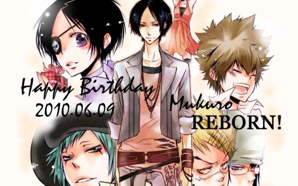 Anime Katekyō Hitman Reborn! Tsunayoshi Sawada Chrome Dokuro Mukuro Rokudo Ken Joshima Chikusa Kakimoto M.M. Fran HD Wallpaper | Background Image