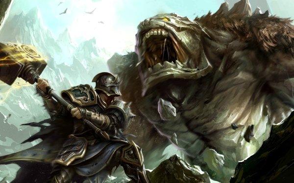 Video Game Kingdoms Of Amalur: Reckoning Kingdoms Of Amalur Fantasy Creature Monster Knight Warrior HD Wallpaper   Background Image