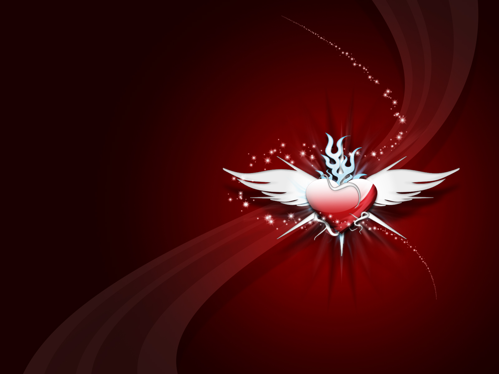 Artistic - Love  Artistic Wings Heart Wallpaper