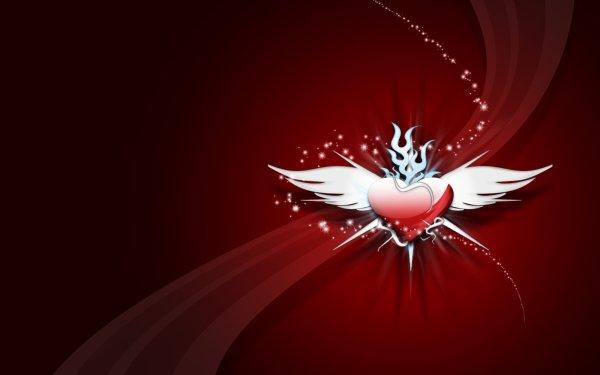 Künstlerisch Liebe Wings Herz HD Wallpaper | Hintergrund