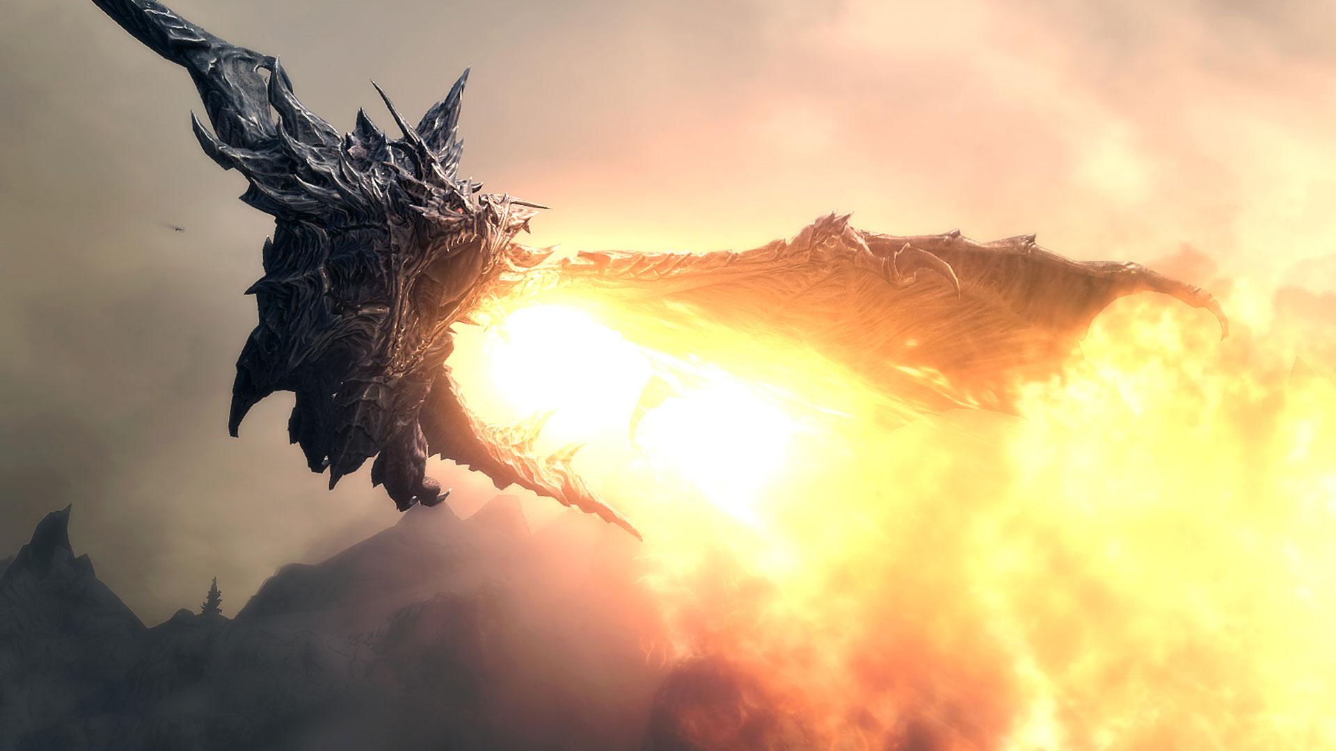 The elder scrolls v skyrim full hd wallpaper and background image video game the elder scrolls v skyrim skyrim dragon wallpaper voltagebd Choice Image