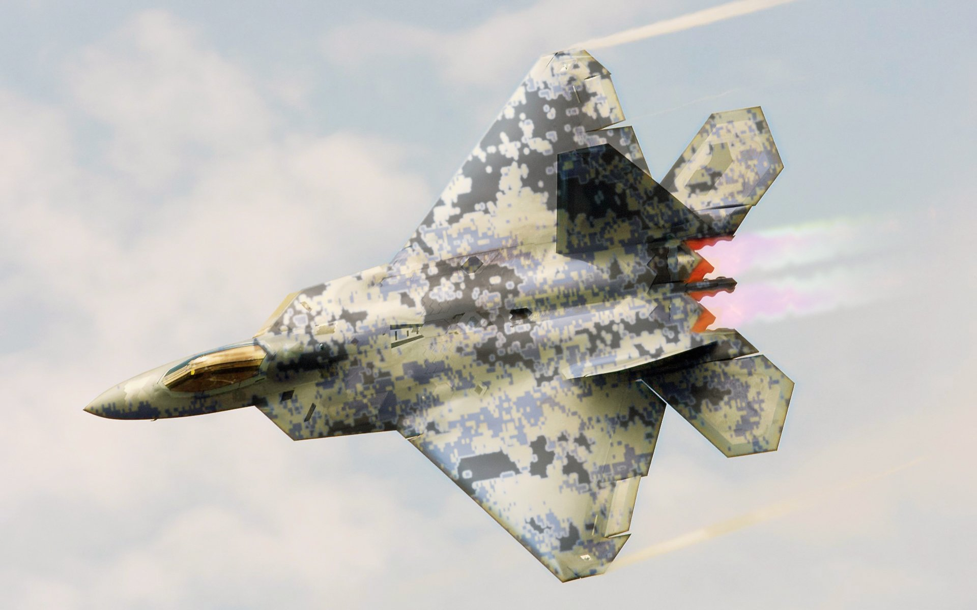Lockheed Martin F-22 Raptor Full HD Wallpaper and ...