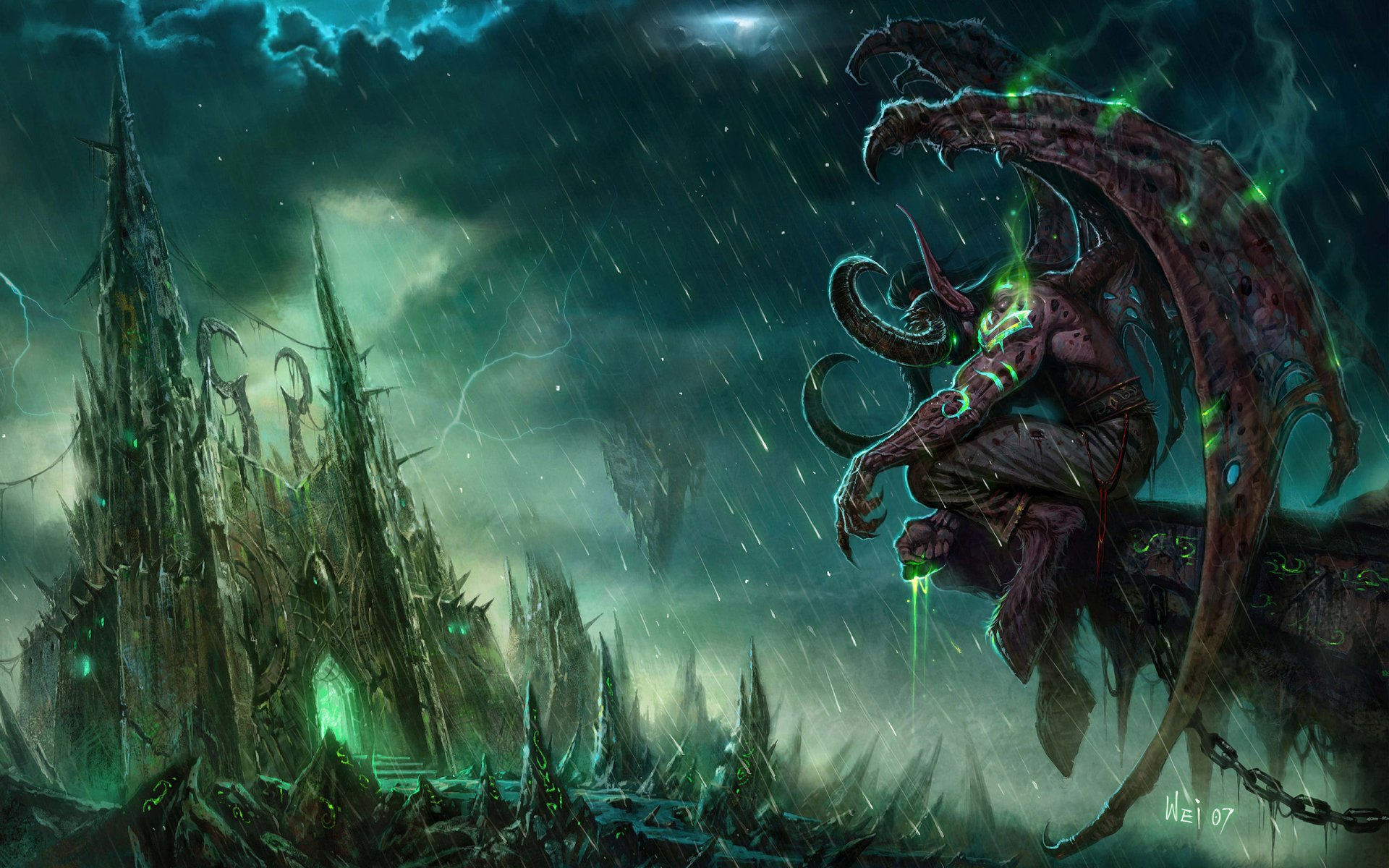 Video Game - World Of Warcraft  Warcraft Illidan Stormrage Wallpaper