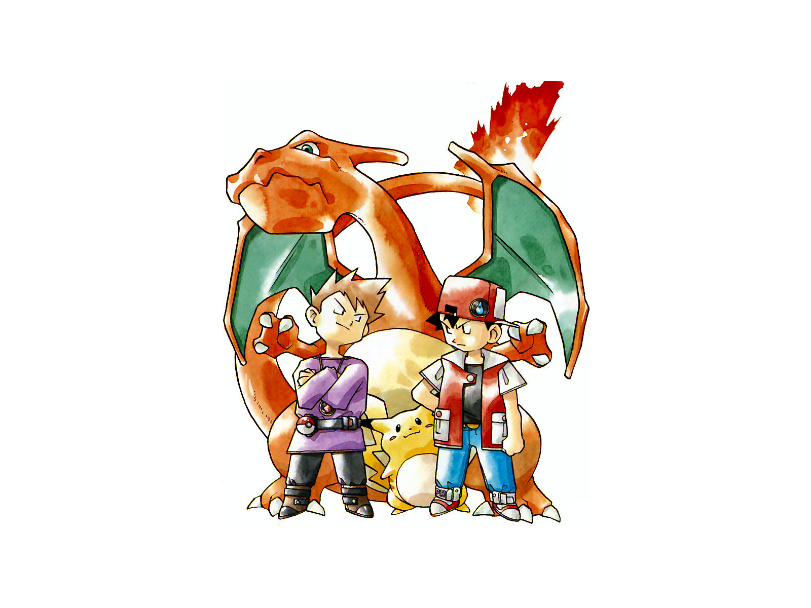 Pokemon Red And Blue Wallpaper And Background Image 1600x1200