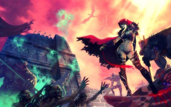 Video Game World Of Warcraft Warcraft Fantasy Creature Weapon Sylvanas Windrunner Worgen Undead HD Wallpaper | Background Image