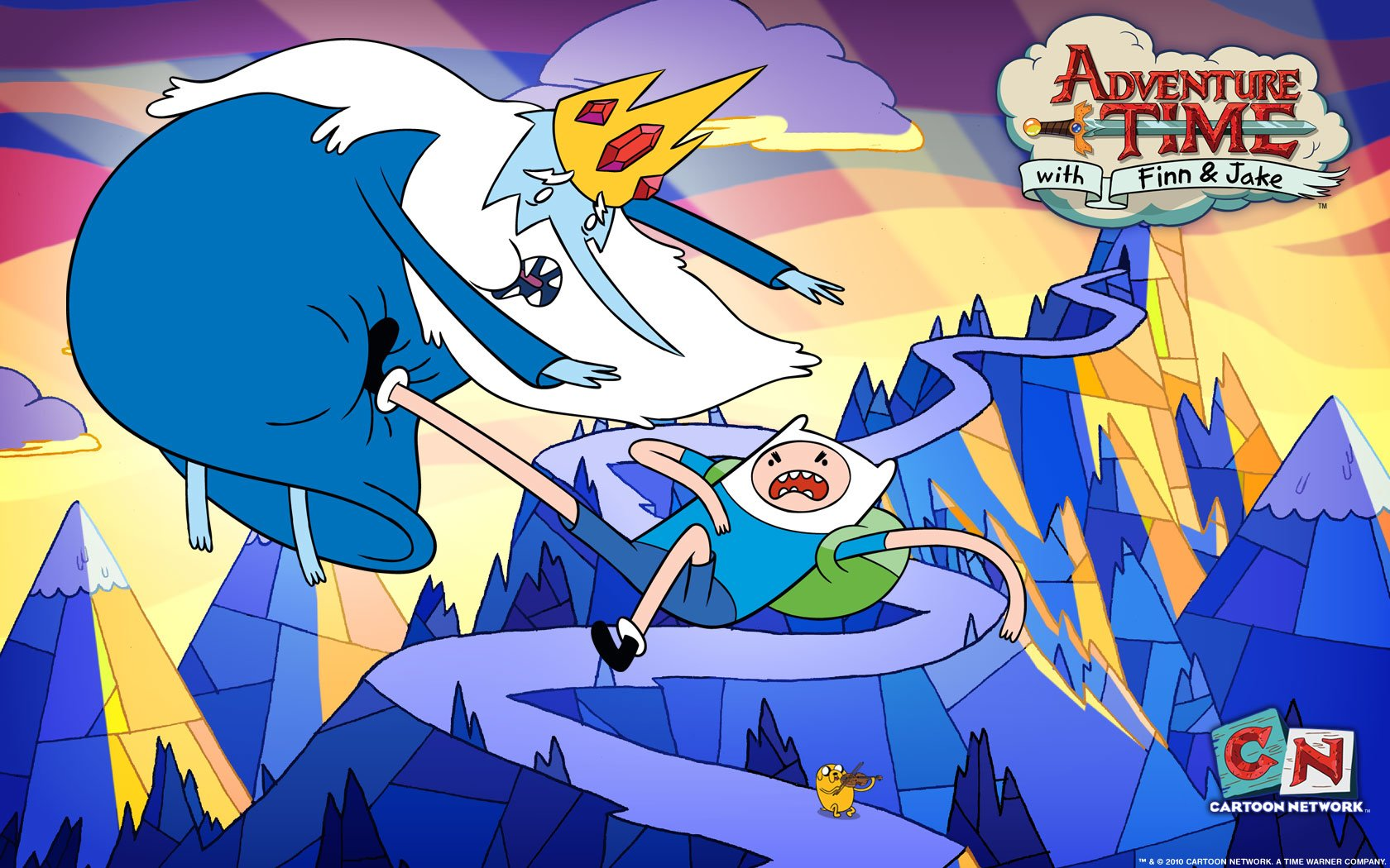 TV Show - Adventure Time  Ice King (Adventure Time) Jake the Dog Finn the Human Wallpaper