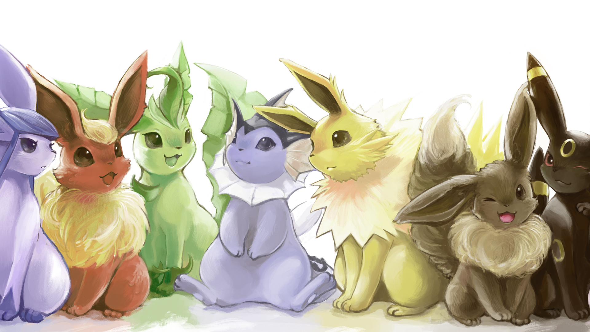 Anime - Pokemon  Espeon (Pokémon) Leafeon (Pokémon) Vaporeon (Pokémon) Jolteon (Pokémon) Eevee (Pokemon) Umbreon (Pokémon) Pokémon Eeveelutions Flareon (Pokémon) Wallpaper