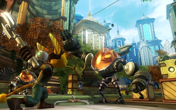 Video Game Ratchet & Clank Future: Tools of Destruction Ratchet & Clank HD Wallpaper   Background Image