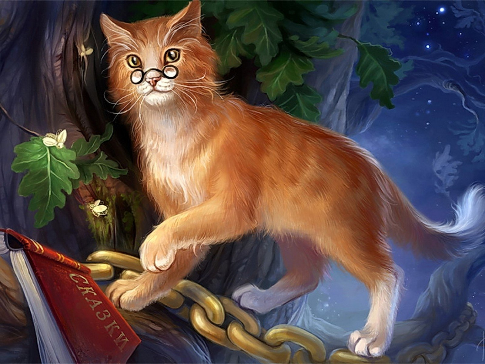 Fantasía - Gato  Fondo de Pantalla
