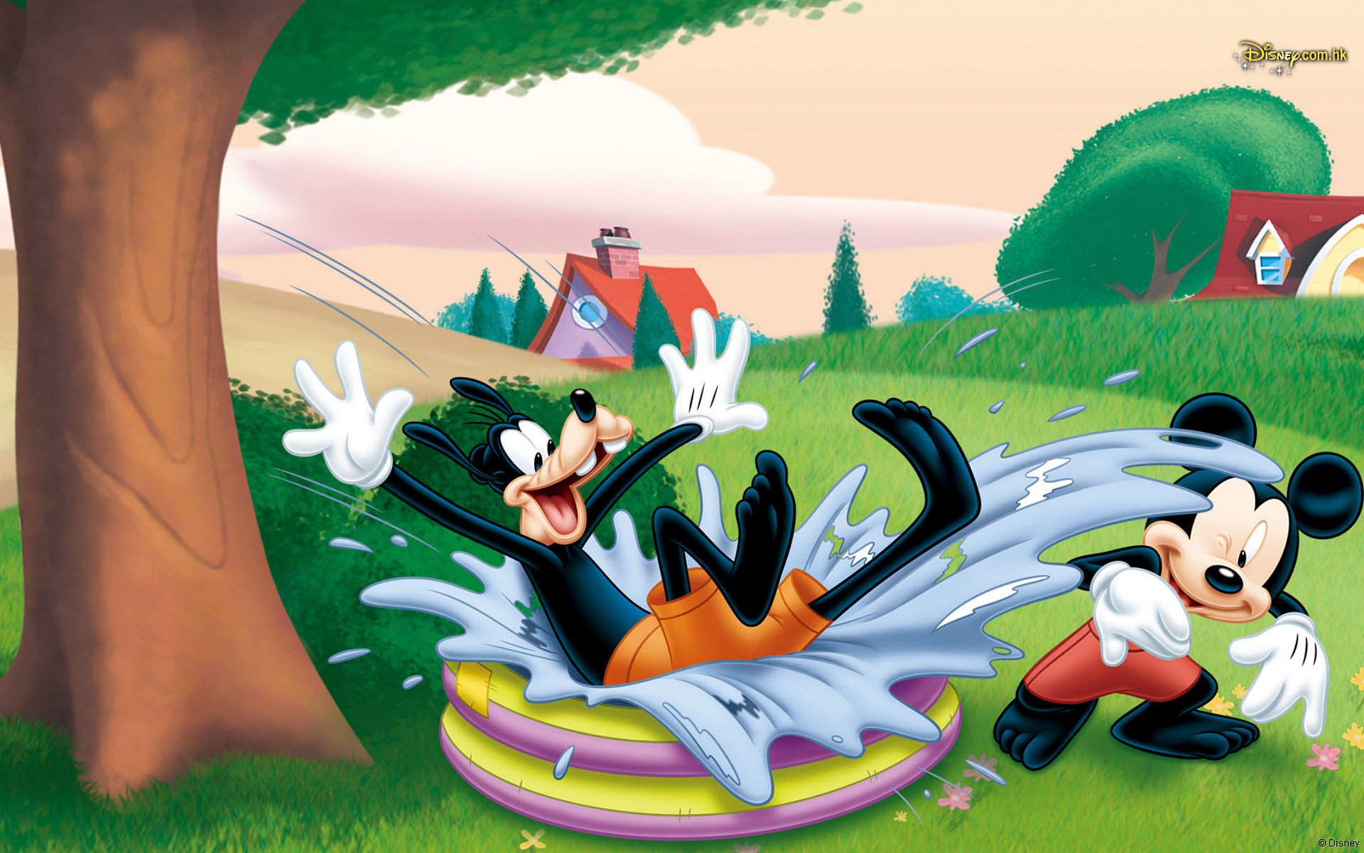 Mickey Goofy HD Wallpaper Background Image 1920x1200