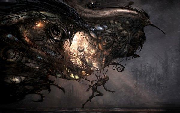 Sci Fi Artistic Bird Phoenix Creature HD Wallpaper   Background Image