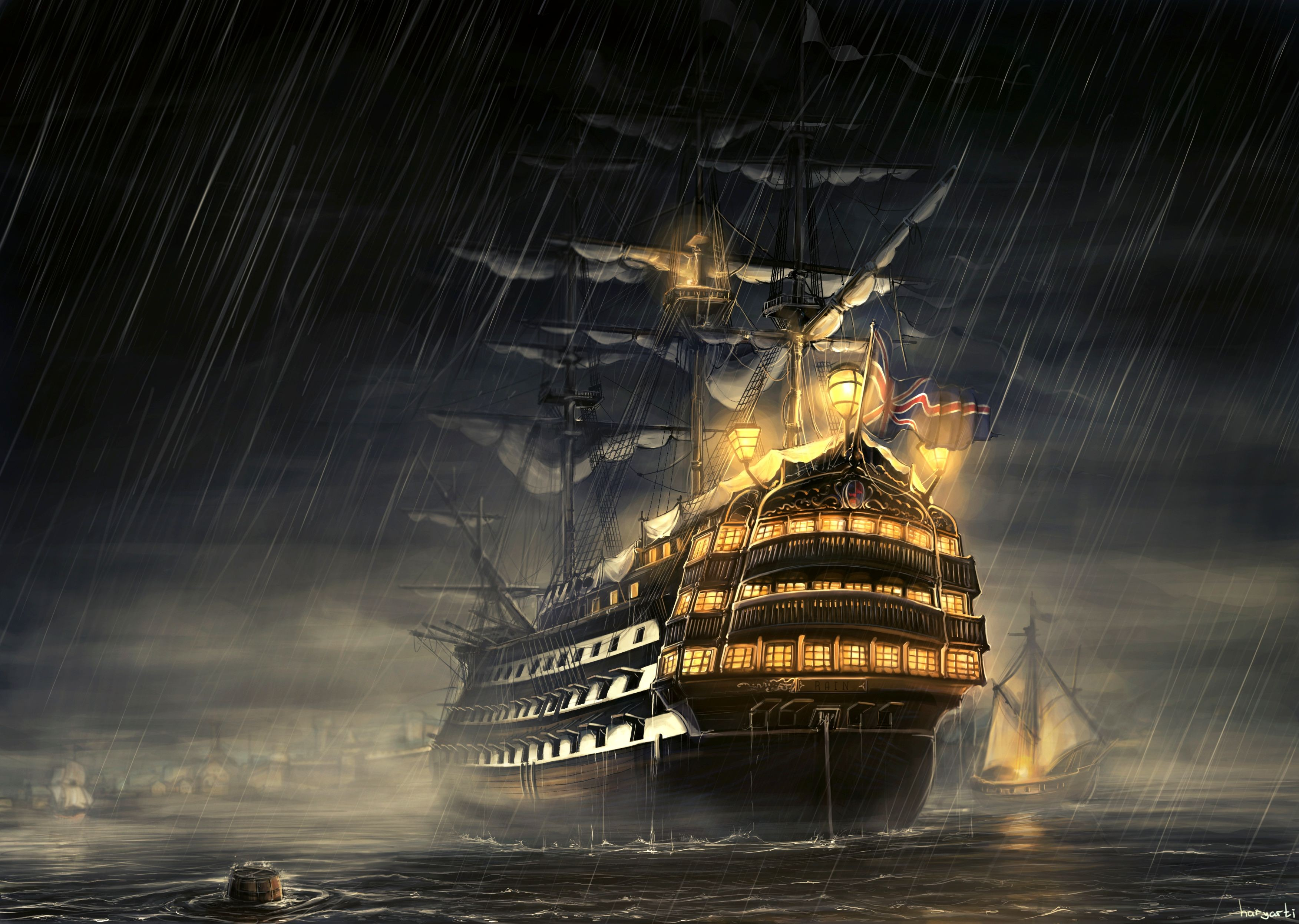 Ship HD Wallpaper | Background Image | 3504x2493 | ID ...