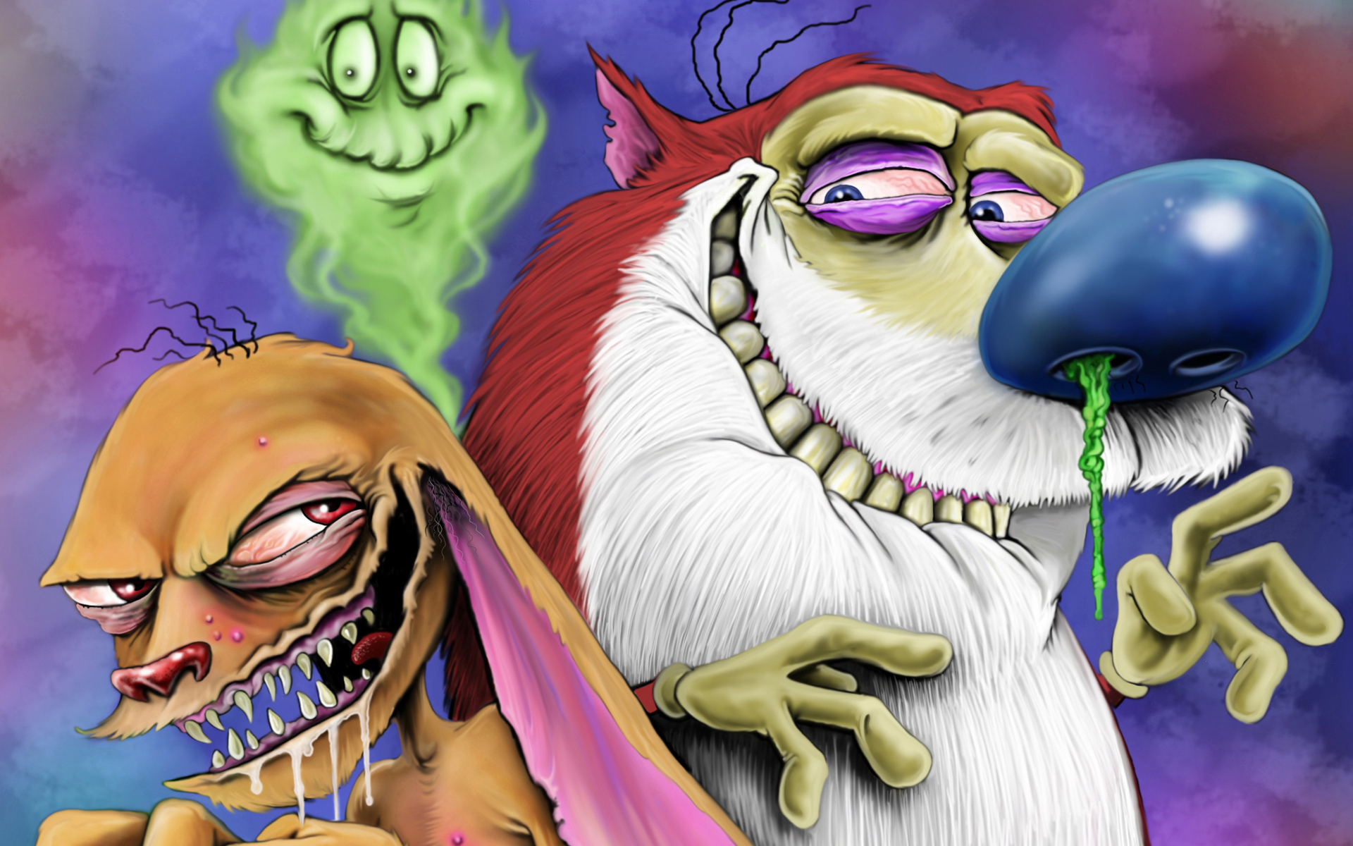ren and stimpy hd wallpaper background image 1920x1200