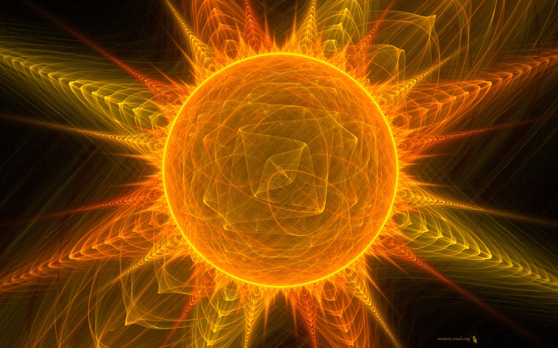 Abstract - Cool  Artistic Sun Abstract Wallpaper