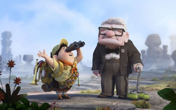 Movie Up Russell Carl Fredricksen HD Wallpaper | Background Image