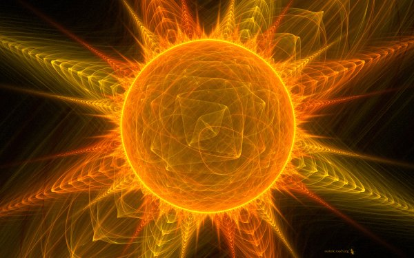 Abstract Cool Artistic Sun HD Wallpaper | Background Image