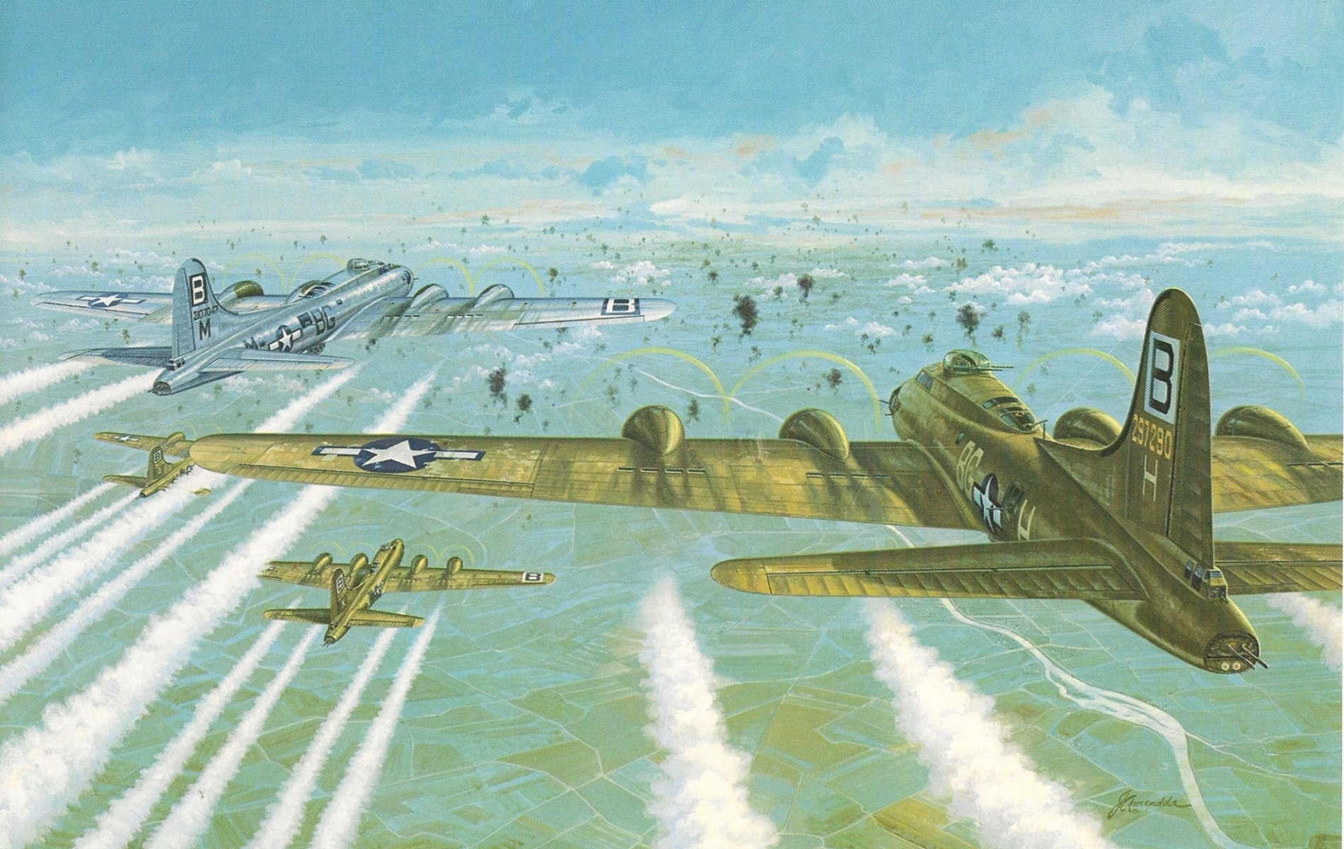 Boeing B 17 Flying Fortress Wallpaper And Background Image