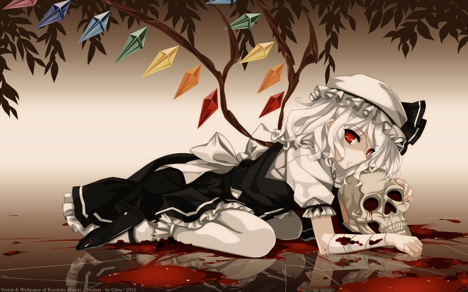 Touhou full hd wallpaper and background image 2560x1600 for Imagenes de anime gore