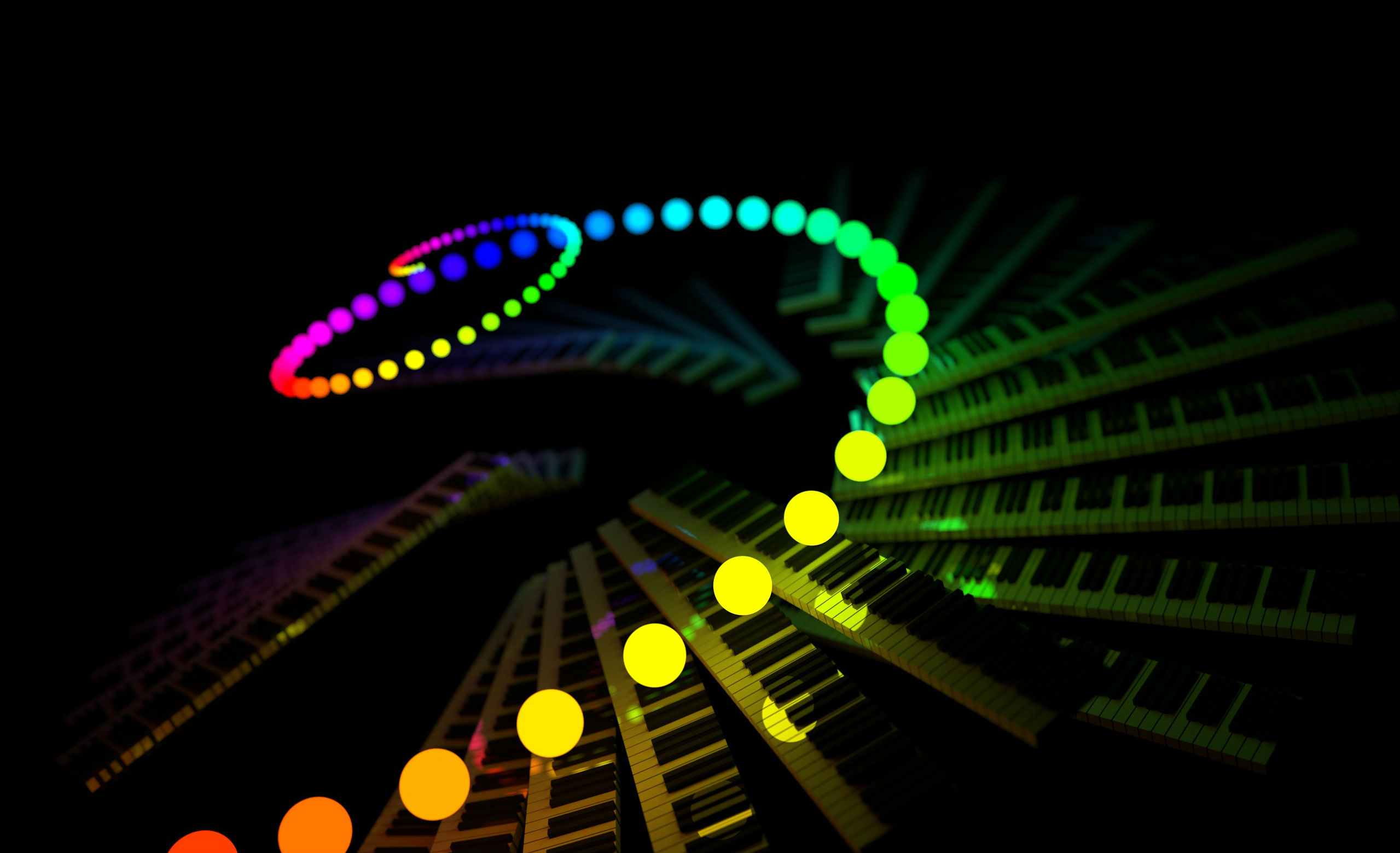 Artistic full hd wallpaper and background image for Luces de colores
